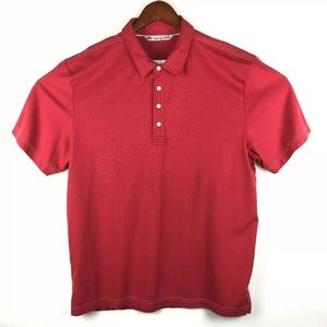 Travis Mathew Golf Polo Red Short Sleeve Shirt